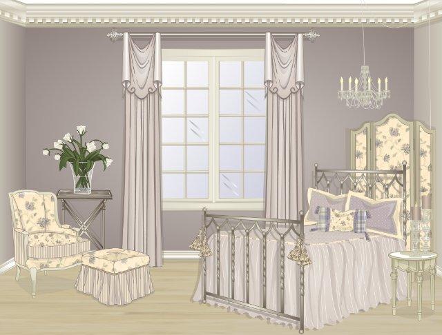 Эскизы штор для спальни